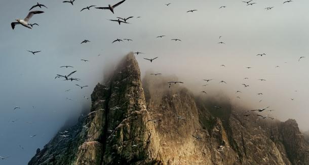 Les dangereuses falaises de Saint Kilda, photographie Jim Richardson.
