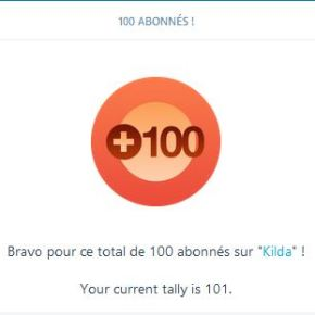 100 abonnés WordPress, merci !