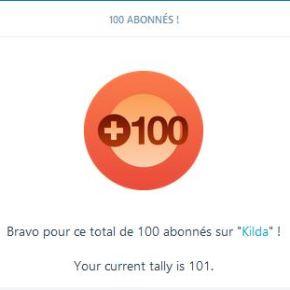 100 abonnés WordPress, merci!
