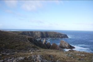 Les falaises de Mangersta in Uig sur l'île de Lewis, lieu sélectionné por accueillir le futur St Kilda Center. ©Dualchas