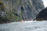 St Kilda boat and cliffs ©Marjorie Wilson
