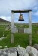 La cloche, dans les ruines du village ©Camille Peney
