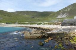 La plage d'Hirta nous accueille ©Camille Peney