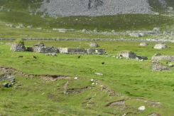 Les ruines du village occupé jusqu'en 1930 ©Camille Peney