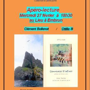 Apéro-lecture à Embrun [Clément Bollenot/Ottilie B]