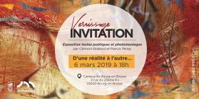 D'une réalité à l'autre : invitation au vernissage de l'exposition