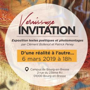 «D'une réalité à l'autre» : invitation au vernissage de l'exposition